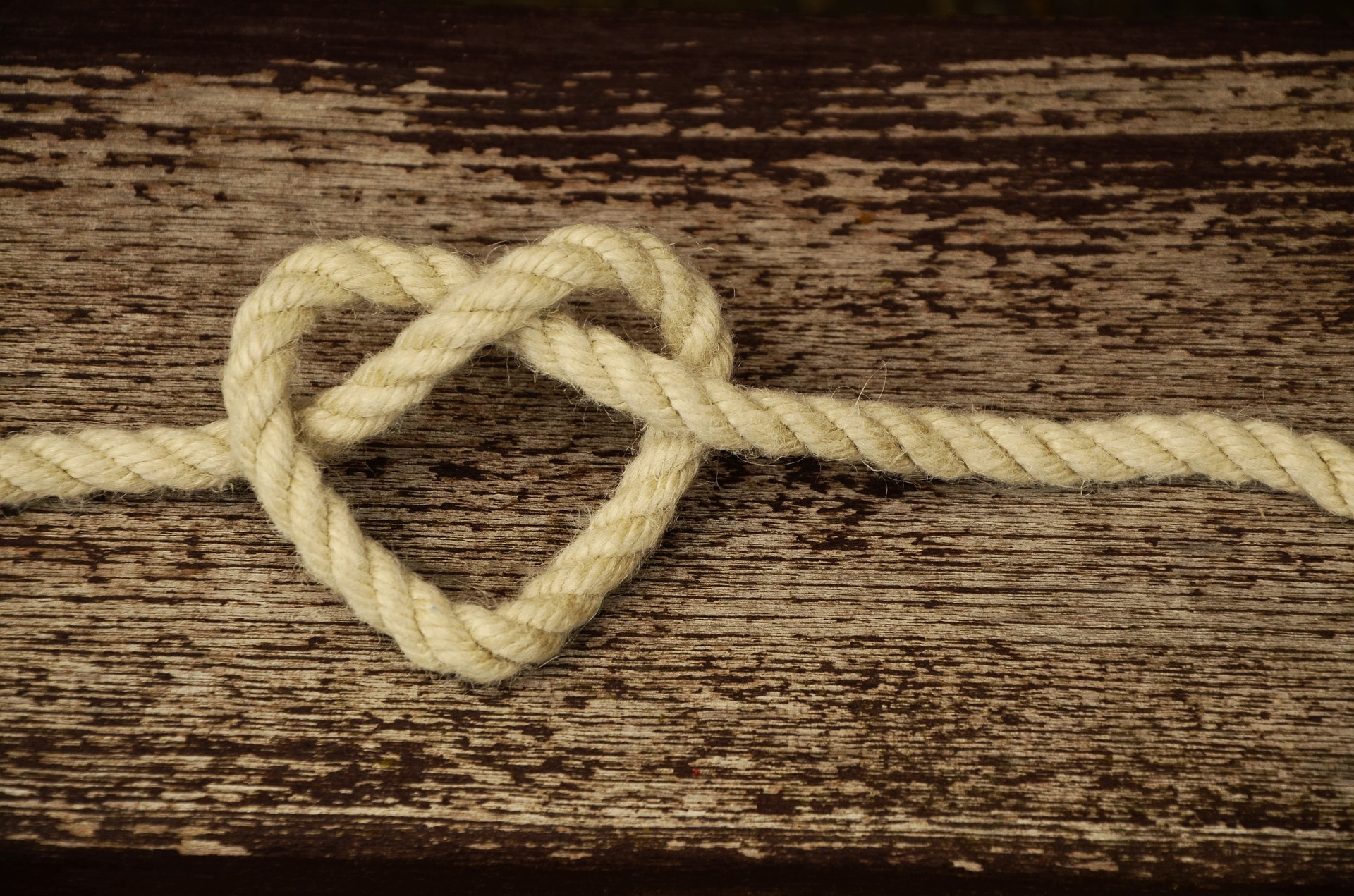 Heart made of Rope